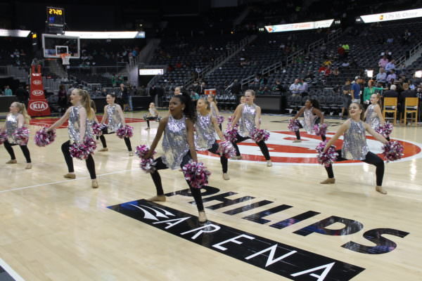 Pom Pom Team performs at the Atlanta Hawks Game!